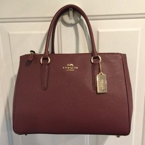 NWT Coach Large Surrey Carryall F44955 Wine